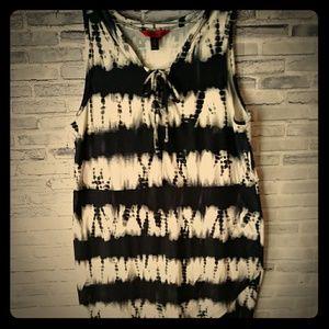 Hot Kiss Black\White Stretch Dress